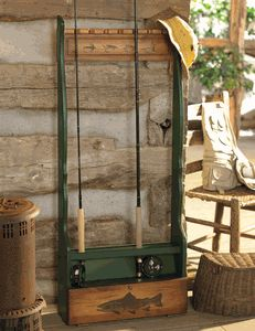 Fishing Rod Rack... Love this rack!