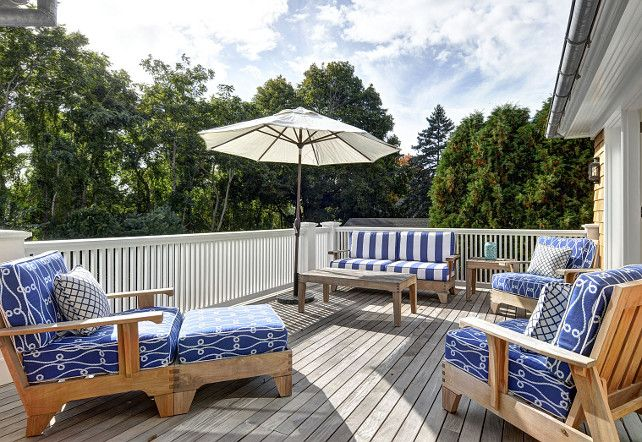 Deck. Deck Furniture. Deck Furniture Ideas. #Deck #DeckFurniture John Hummel and Associates.
