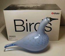 Iittala OIVA TOIKKA,  Art Glass Bird,  Grebe, Light Blue, New In Box