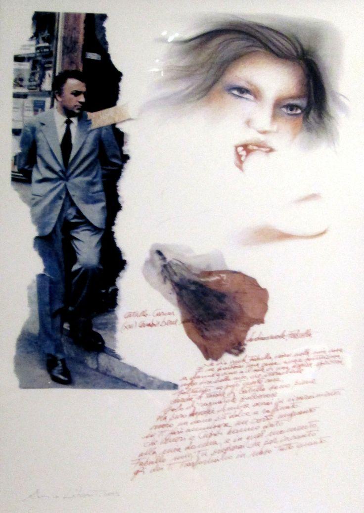 Omaggio alla poesia e a Catullo   cm 45x31,5   Tecnica: stampa digitale con interventi a tecnica mista   Anno 2013