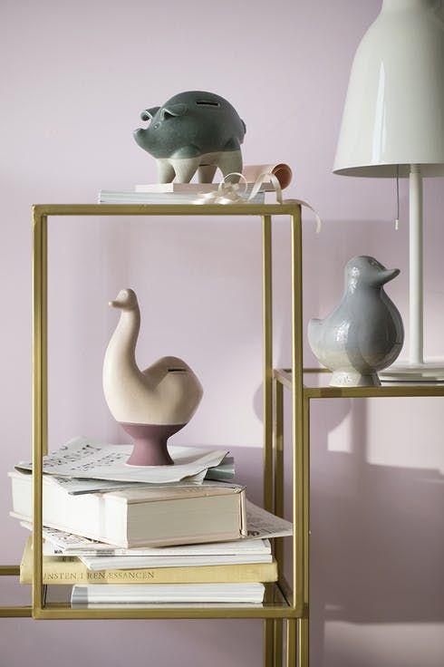 "A place to store you money. The Danish design brand Kähler has launched these sweet animals ""piggy banks"""