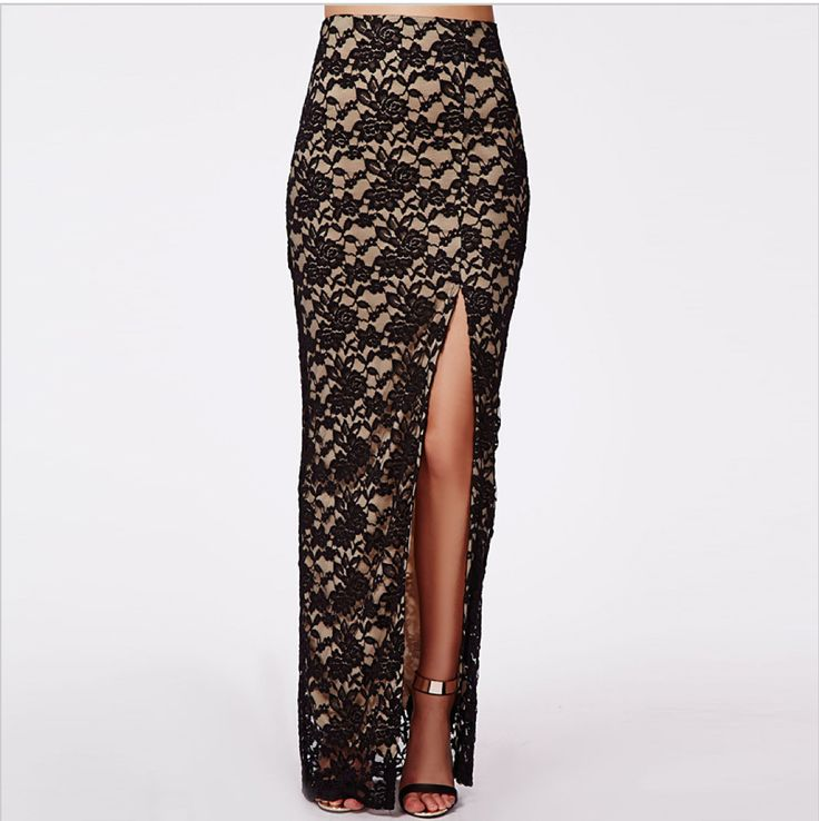 A nice and long skirt with lace. #long #laceskirt