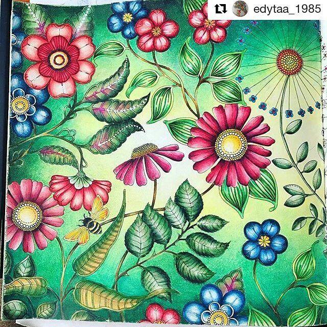 Pintura Maravilhosa By Edytaa 1985 Jardimsecreto Secretgarden Johannabasford