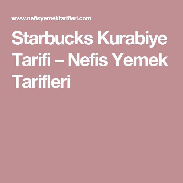 Starbucks Kurabiye Tarifi – Nefis Yemek Tarifleri