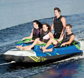 HO Sports Atomic Boat Towable 4 Person Staggered Seating Tube and Tow Rope - http://www.skiyouth.com/ski-equipment-deals/kids-water-ski-deals/ho-sports-atomic-boat-towable-4-person-staggered-seating-tube-and-tow-rope/