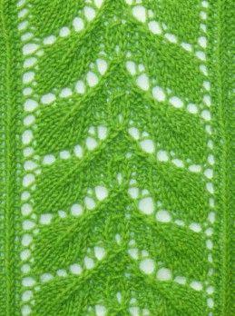 Leaf Lace Knit Stitch Free Knitting Patterns http://knitchart.com/item/leaf-lace-knit-stitch-pattern-71.html