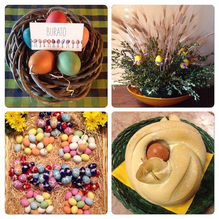Homemade decorations for the Easter lunch.
