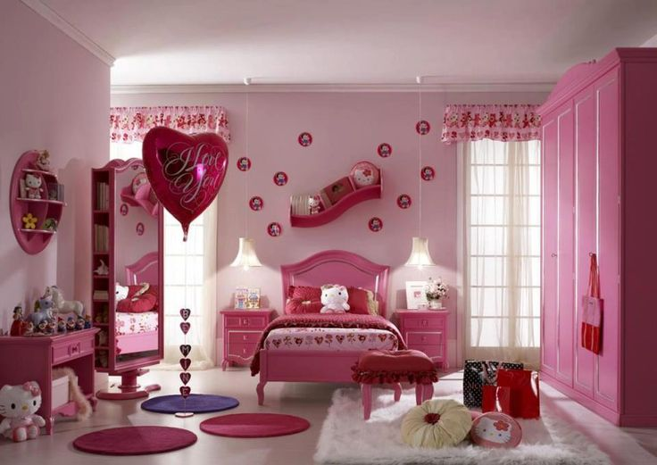 Sweet pink bedroom54 best Pink Bedrooms images on Pinterest   Pink bedrooms  . Pink Bedroom Set. Home Design Ideas