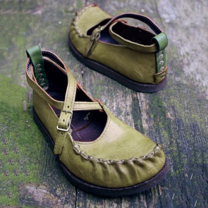 Vintage Casual Round Head Flats In 2020 Vintage Shoes Flats Vintage Flat Shoes Women Flat Shoes Women