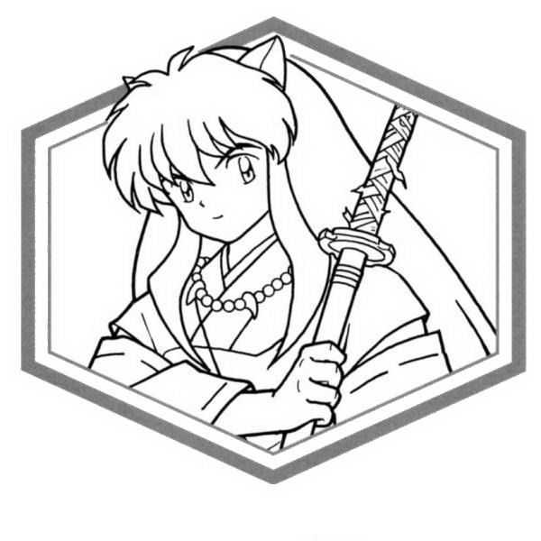 23 Best Inuyasha Coloring Pages Images On Pinterest
