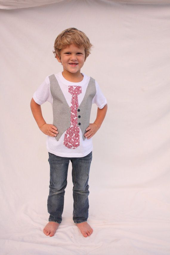 boys Christmas shirt, Christmas tie shirt, Christmas  vest and tie on Etsy, $32.50