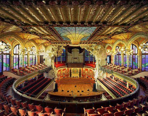 Palau de la Musica Catalana, Barcelona, Spain Photo: VitalSky