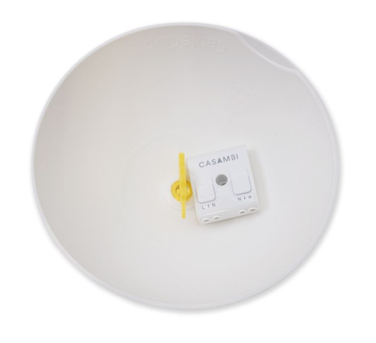 With the dimmer inside the ceiling rose you can make your current lamps at home smart. Just by replacing your ceiling rose.