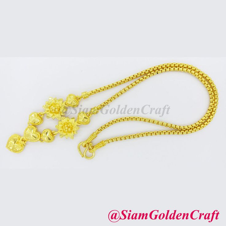 "22K 23K 24K Thai Baht Gold Plate 18"" Necklace 17 grams GP Yellow Chain Jewelry 