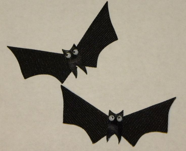 how to make a halloween bat out of ribbon style 3 of 3 - Halloween Bats Crafts