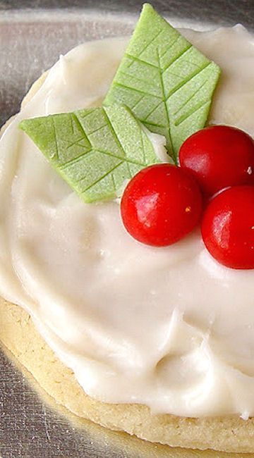 Christmas cookies - I love Land O'Lakes frosted butter cookies recipe ... the best!