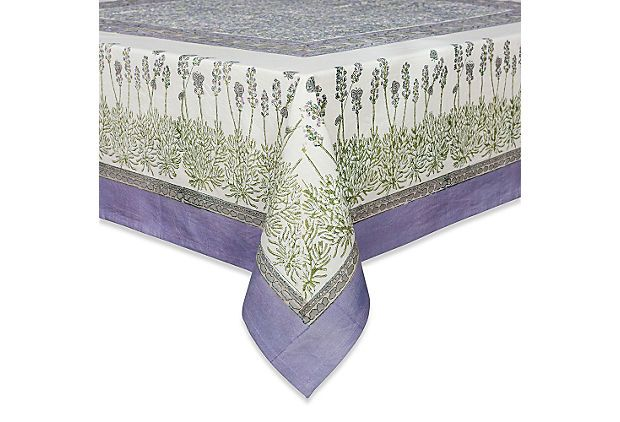 Nature Tablecloth, Lavender on OneKingsLane.com