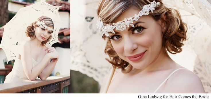 1930's inspired bridal hairstyles. vintage bridal hair and makeup by Hair Comes the Bride
