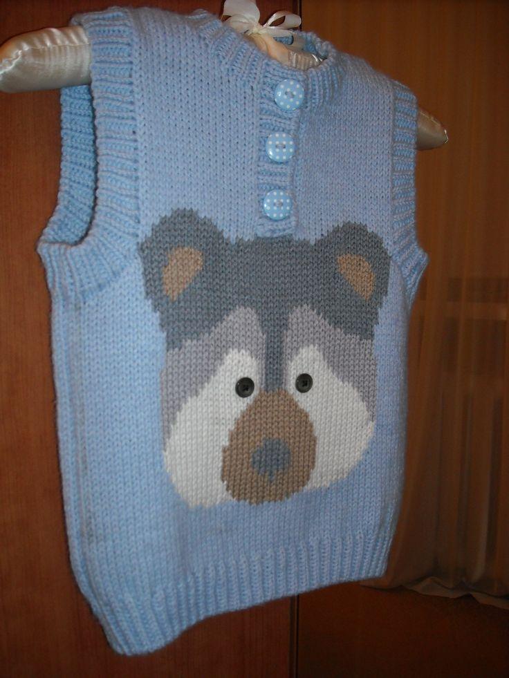 Teddy Bear sleeveless pullover