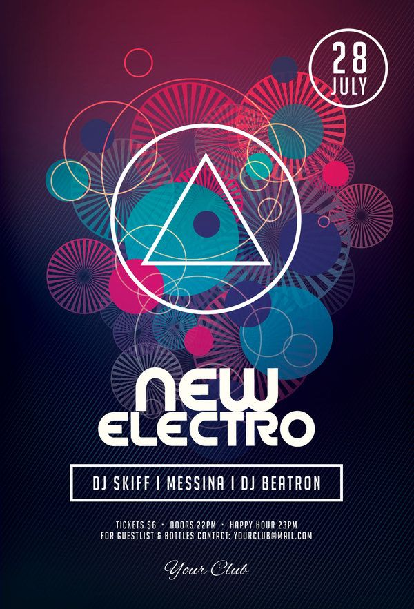 New Electro Flyer by styleWish (Download PSD file)