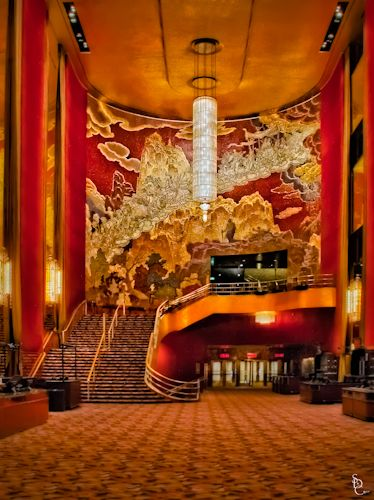 Radio city music hall art deco. I will be using this as inspiration for an Assembly Hall re-construction with strong Art Deco/Renaissance influences.