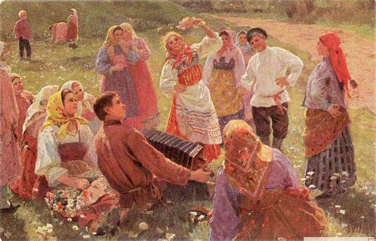 один из традиционных праздников, приходящийся на первое воскресенье после Пасхи, Красная Горка.На Красную горку традиционно приходился пик свадеб, поскольку это первые дни, когда церковь возвращается к таинству Венчания после девятинедельного перерыва.