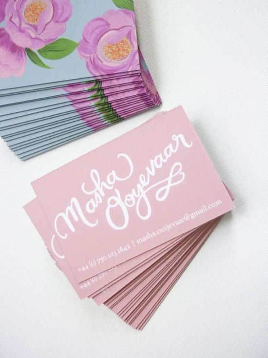 Cute Business Cards, Creative Business Cards, Business Design, Business  Ideas, Floral Design, Graphic Design, Textile Design, Print Design, Wedding  Ideas