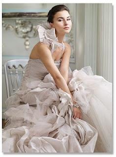 Ian Stuart available at Mariee Bridal Scottsdale Arizona  4809464343 taupe ruffles bow halter bridal gown