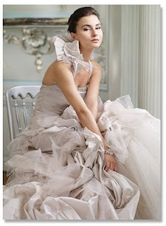 Ian Stuart available at Mariee Bridal Scottsdale Arizona  4809464343 taupe ruffles bow halter bridal gown