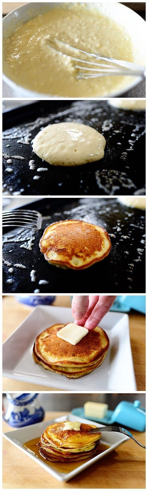 Edna Mae's Sour Cream Pancakes | Food Blog. Sub the sugar with ...