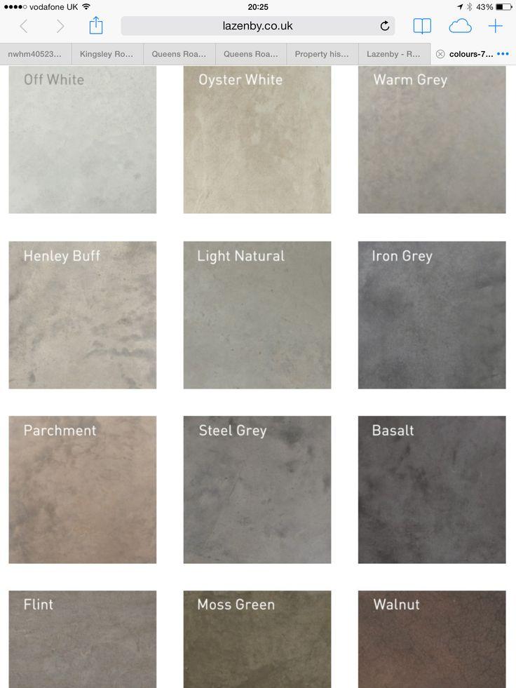 Lazenby concrete floor colours