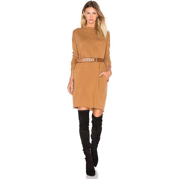 DemyLee Lila Sweater Dress ($340) ❤ liked on Polyvore featuring dresses, demylee, beige dress, beige sweater dress and sweater dresses