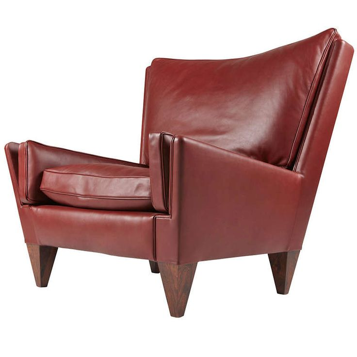 illum wikkelso rosewood and leather armchair
