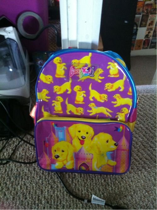 """idostuff:  """" Found a Lisa Frank backpack while thrifting yesterday!  """""""