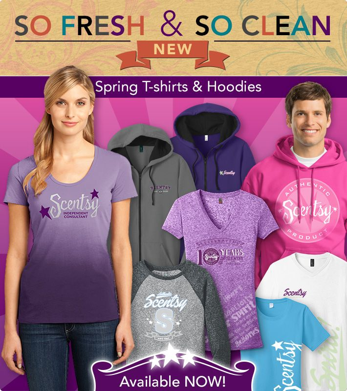 Our NEW spring apparel has arrived!! Check out what's new on your Scentsy workstation by going to the Orders tab