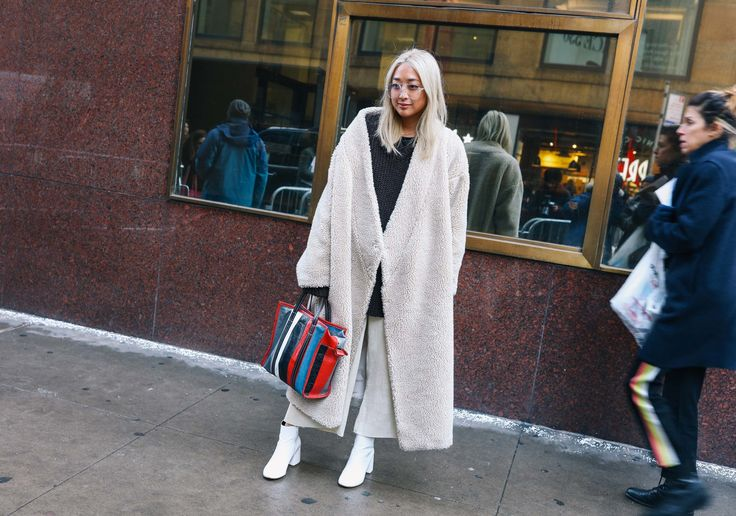 #StreetStyle  #NYC Serena Goh with a Balenciaga bag and Grey Ant sunglasses