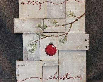 Weihnachtsbaum rote Zwiebeln Pine tree von TheWhiteBirchStudio