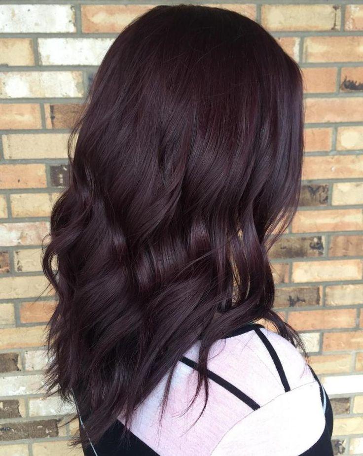 Very Dark Burgundy Brown Hair #LookBook #BurgundyHair #HairColor #Salerm