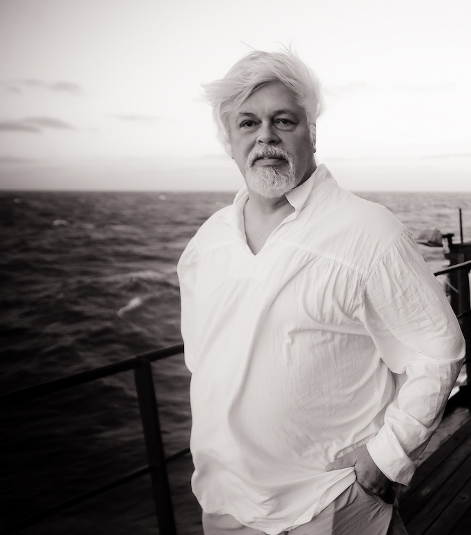 the whale whisperer :) Paul Watson