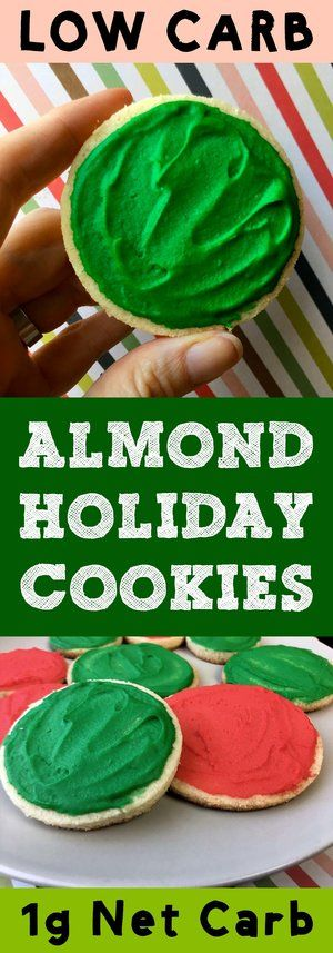 These low carb shortbread cookies are just the thing to bring to holiday parties and family get-togethers. They have less than 1g net carb per cookie so they are very low carb friendly. And they'll fit right in on any cookie plate. #lowcarb