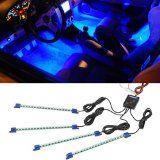 4pc. Blue LED Interior Underdash Lighting Kit