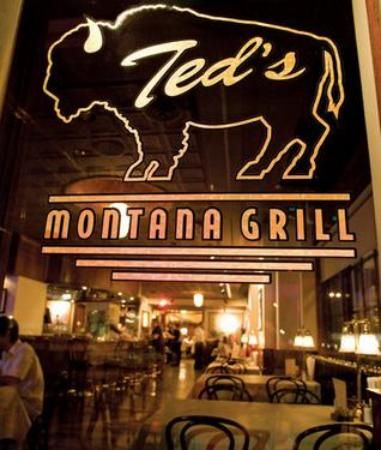 TED'S MONTANA GRILL -- love their beef burgers ... even though they specialize in bison.