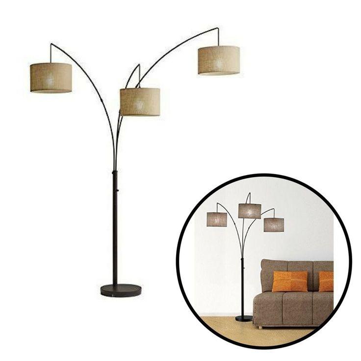 Modern Floor Lamp Antique Bronze 3 Light Contemporary Home Design Decorative #Unbranded #Contemporary