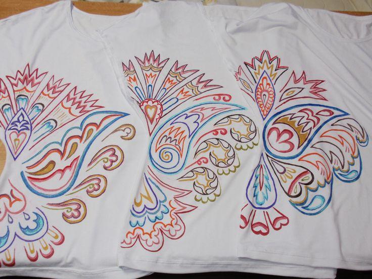 paiting on shirt -folf art