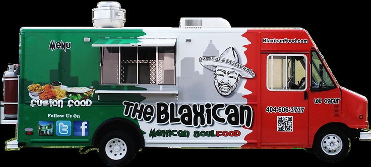 Blaxican Food Truck - LOVE THIS! TOO COOL! HA HA!! | Restuarant/Food Truck concepts | Pinterest | Food truck, Food and Yum yum