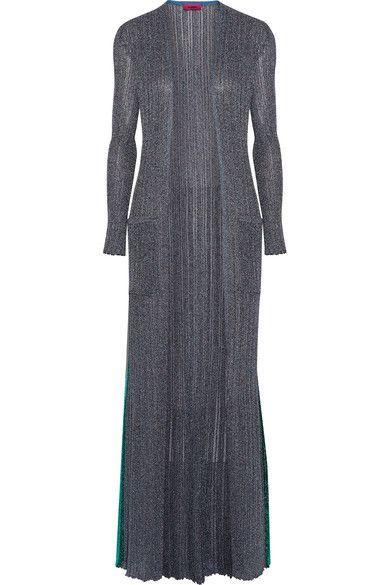 Missoni - Metallic Ribbed-knit Cardigan - Silver