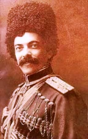 Prince Riza Quli Mirza Ghajar (Aleksandr Petrovich) (May 25, 1869 St. Petersburg - 1941 USA) - Russian military leader, commander in Yekaterinburg (1918), Colonel. It comes from the famous Azerbaijani kind of Ghajar.