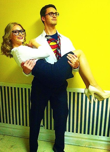 Clark Kent and Lois Lane! Halloween costumes were a success!