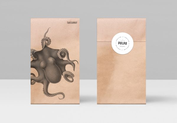 Gorgeous packaging and brand for an Italian restuarant using historical images. Found on thedieline.com