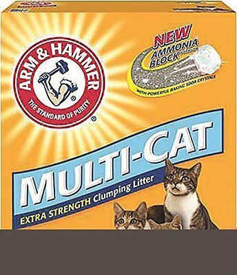 Arm & Hammer Multi-Cat Litter, Unscented, 20 Lbs